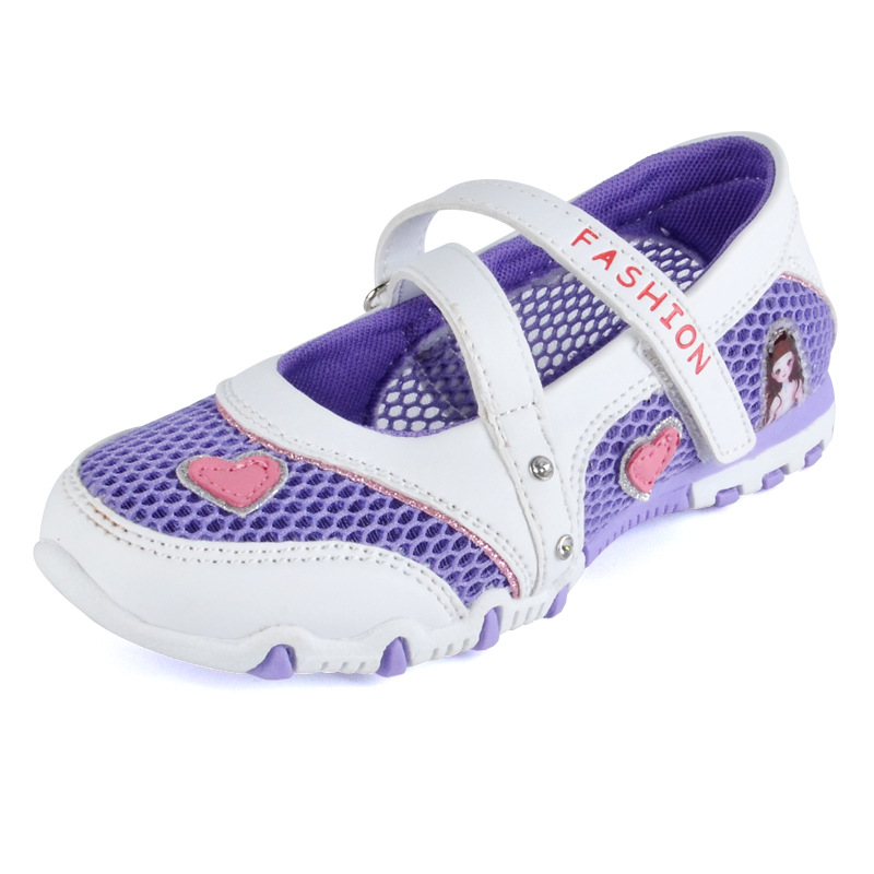 New Arrival Girls Princess Dress Shoes Breathable Anti-Slippery Sandals Size 26-37 Fancy Cartoon Fashion Sneakers Casual Flats