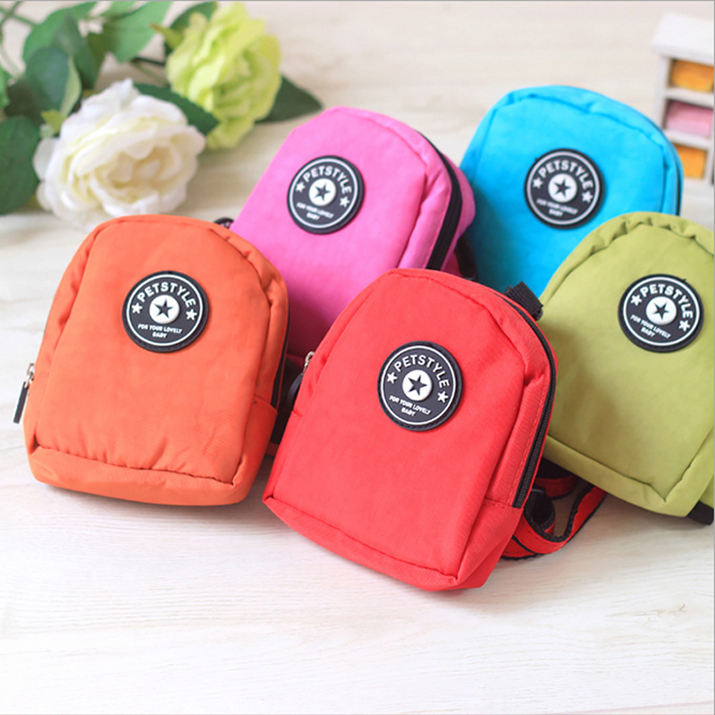 Fashion Multicolor Super High Quality Pet Bag Dog Backpack With Leash Dog knapsack dog school Bag Cat Backpack S,L