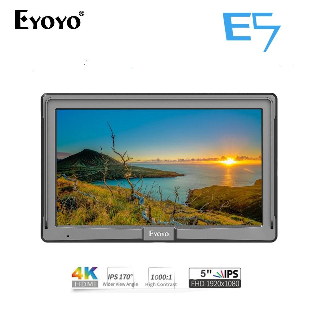 Eyoyo E5 5 pouces Utra Slim IPS Full HD 1920x1080 4 K HDMI moniteur de champ vidéo sur caméra pour Canon Sony Nikon