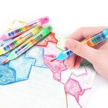 20 цветов/шт милые каваи мелки масло пастельные креативные цветные граффити ручка для детская Живопись принадлежности для рисования студенческие канцелярские принадлежности