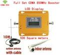 UMTS GSM CDMA LTE 70dB 850 MHz 2G 3G Móvel Sem Fio Repetidor de Sinal de telefone Impulsionador Repetidor de Sinal Amplificador + Cabo + antena