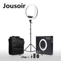 Плавная затемнения светодиодный кольцо света + Bluetooth Remote + штатив + сумка для фото фотостудия макияж лампа CD50