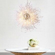 ثريا حديثة بإضاءة من الكريستال مصنوعة من الإكريليك ثريا بإضاءة معلّقة مصباح كريستالي إضاءة منزلية