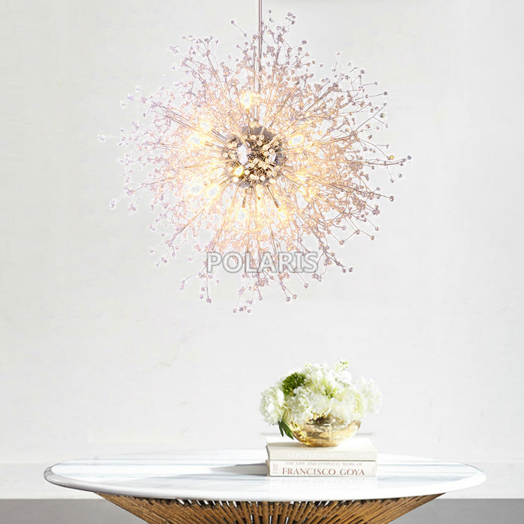 Modern Crystal Chandelier Lighting Cristal Chandeliers Lamp Pendant Hanging Light Lustres De Cristal Lamp for Living Dining Room modern led crystal pendant lamp dandelion chandelier light fixture for dining room bedroom lustres de cristal ac110v 240v
