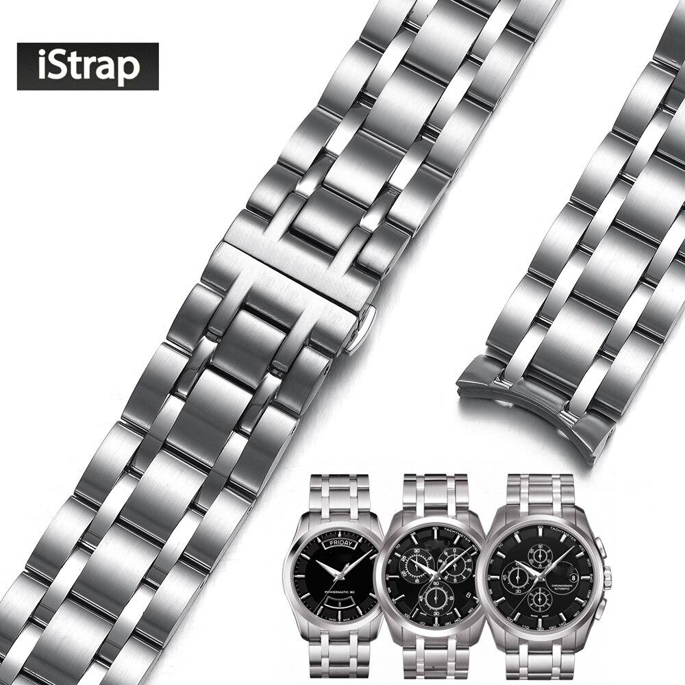 IStrap 22 мм 23 мм 24 мм посвященный Нержавеющаясталь часы группы серебро ремешок для часов замена ремешок для тиссот Кутюрье T035