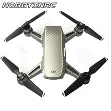 Hobbyinrc защитный Spark Роскошные углеродного Волокно Стикеры кожного покрова Водонепроницаемый Стикеры для DJI Spark запасных Запчасти FPV-системы Drone