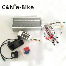 Free shipping!!! 12v TFT display lcd color monitor with Brushless Controller for 72v 3000w/5000w Electric Bike