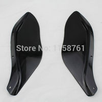 Free Shipping 1 Pair Side Wings Dark Tint Smoke For Harley Touring FLHR FLHT FLHX Motorcycle