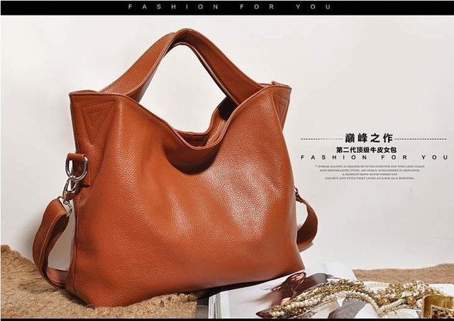 2013 New Fashion Real Genuine Leather Designer Brand Designer Tote Bags for Women High Quality Purse Shoulder bags Free Shipping