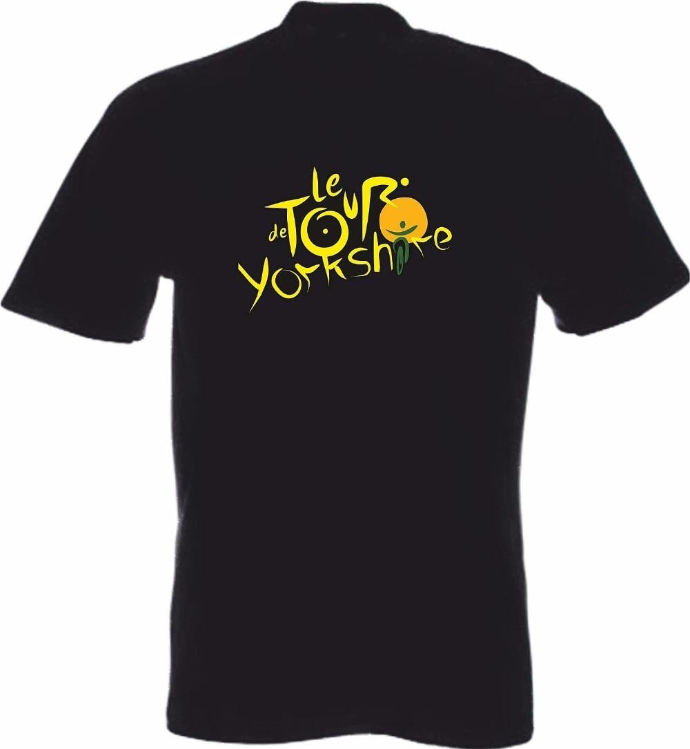 New Fashion Men Solid Color 100% High Quality Cotton Tall Man Yorkshire T-Shirt British Cycler Track British Tee Shirt