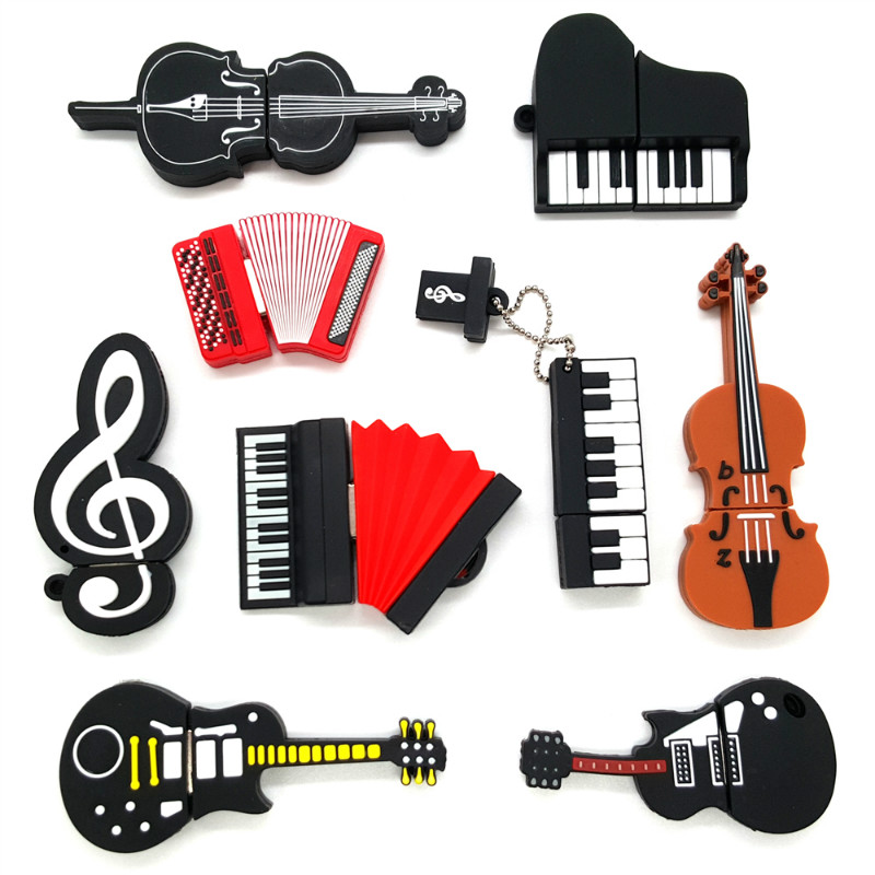 Musical Instruments USB Flash Drive 32gb Piano/Guitar/Microphone Pen Drive 64gb 128gb 16gb 4gb 8gb Usb Disk High Speed Pendrive-in USB Flash Drives from Computer & Office