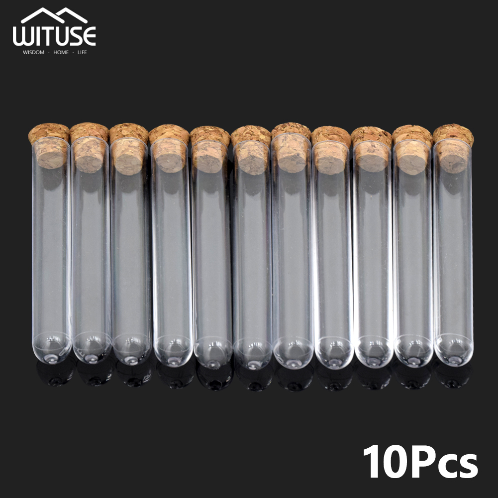 HNYYZL 20 Pack Science Party Test Tubes 40 ml 25x140mm,Clear Plastic Test Tubes Gumball Candy Tubes Bath Salt Vials Christmas Birthday Gifts