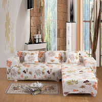 WHISM 3 Seat Plush Elastic Sofa Cover Stretch Printed Corner Sofa Slipcover Lounge Couch Furniture Protector sofa schoner