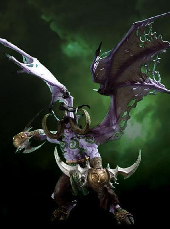 Wow Online Game Character Action Figure DC Unlimited Series 1 Deluxe Boxed Demon Hunter Illidan Storm WOW PVC Figure KA0551 world of 13 deluxe action figure maraad no box wow