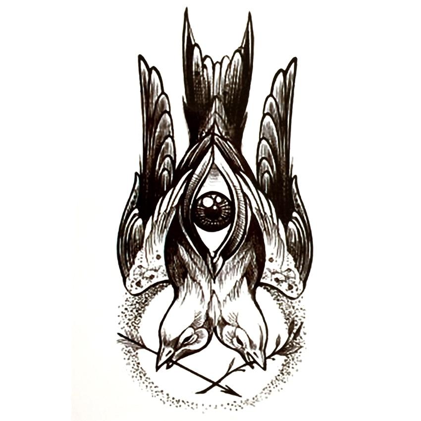 Us 081 18 Offgołąb Pokoju Wodoodporna Tymczasowe Tatuaże Mężczyźni Oczach Boga Harajuku Fałszywy Tatuaż Makijaż Jezus Wojny I Pokoju Henna Tatuaż