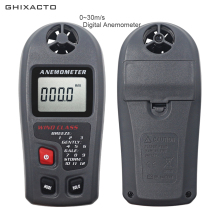 Digital Anemometer 0-30m/s Handheld Wind Speed Measurement Anemometro LCD Meter Monitor m/s km/h mph knots ft/min