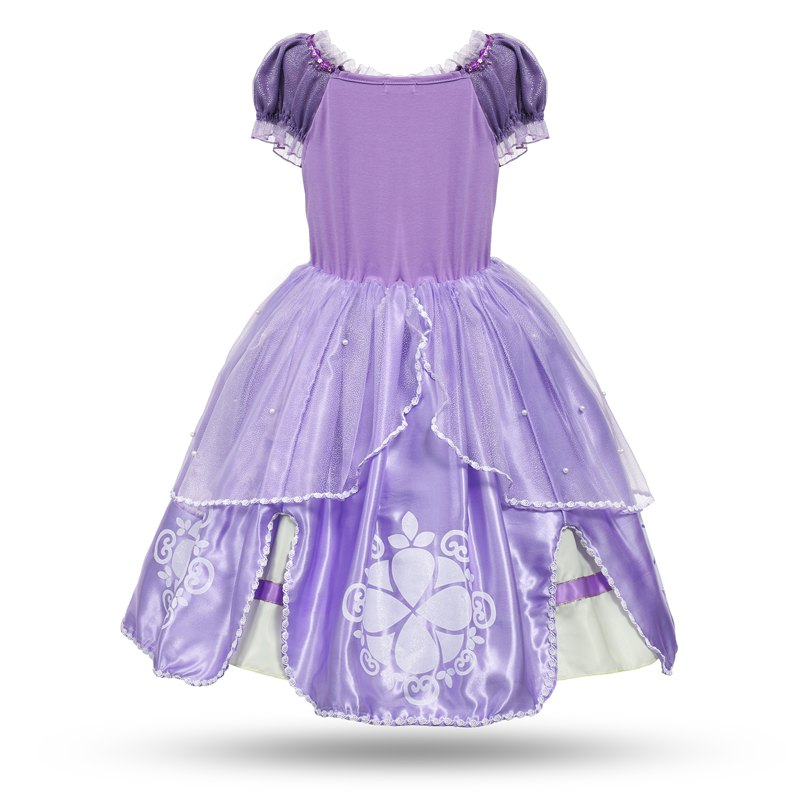 4b88a1d710d MUABABY Princess Summer Dresses Girls Sofia Cosplay Costume 5 Layers Children  Kids Floral Halloween Party Tutu Dress up Fantasy-in Dresses from Mother ...