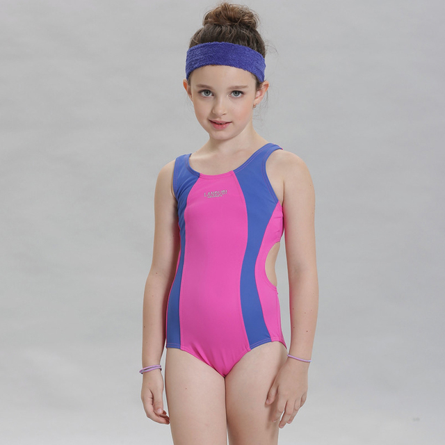 ee12f9c2d61 New 2017 girls swimwear one piece for child swimsuit kids swim suit  children swimming wear beachwear