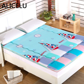 ALICELU Thickened Foldable Bed Mattress Pad Sheets Double/Single Bed Mattress Topper Soft Breathable Tatami Bed Mattress mattress