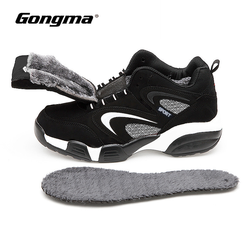 Big Size 36-48 Winter Sneakers Women Keep Warm Men Running Shoes Leather Walking Sport Shoes Male zapatillas hombre deportiva onemix men s running shoes breathable zapatillas hombre outdoor sport sneakers lightweigh walking shoes plus size 39 47 sneakers