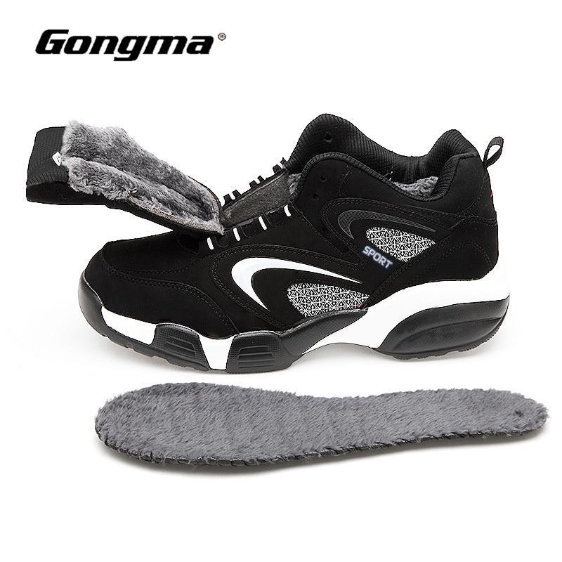 Tamaño grande 36-48 invierno zapatillas mujer mantener calientes los hombres zapatos corrientes de cuero zapatos para caminar zapatos deportivos hombre zapatillas hombre deportiva
