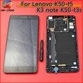 K50-t5 k3 nota pantalla lcd montaje de la pantalla táctil con el marco para lenovo k50-t3s piezas de repuesto