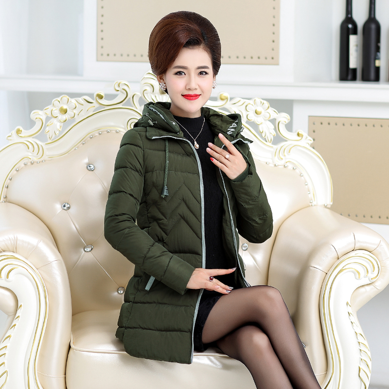 Long creamy Grande white Hiver Vers Veste Taille Coton coréen Green 2019 Wine Parkas black red Femmes Le Nouvelle Capuche Épais Manteau Mince Bas À Chaud Femelle g6wOv6Sq