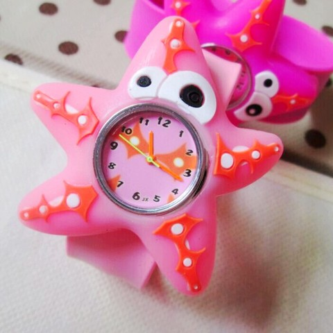HOT Sale watches 3D Kid Cartoon watches Starfish children sports High quality slap wristwatch Islamabad