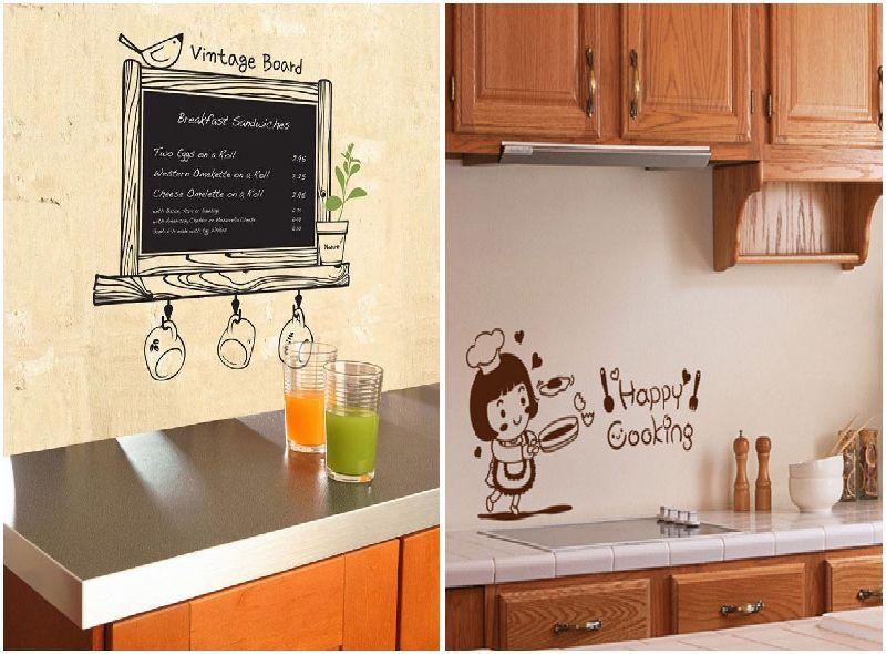 Cute diy pvc chalkboard wall sticker decor blackboard - Cute kitchen decorating themes ...