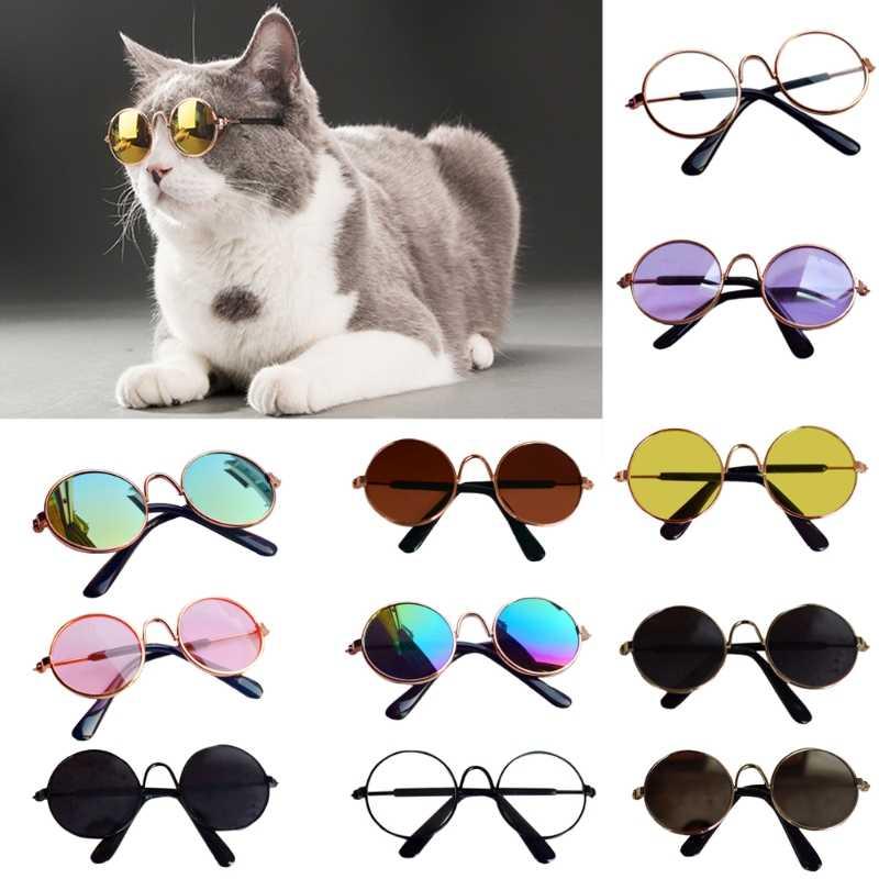 Lalki fajne okulary okulary przeciwsłoneczne dla zwierząt dla BJD Blyth American Grils zabawki rekwizyty fotograficzne Oct20-A