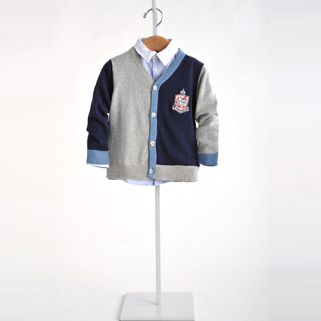 3-12 T Crianças Meninos Tarja correspondência de cores suéter Estilo Preppy Crianças Bebê Tricô camisola por atacado