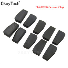 OkeyTech 10pcs/lot New ID T5-20 Transponder Chip Blank Carbon T5 Cloneable Chip for Car Key Cemamic T5 Chip(China)