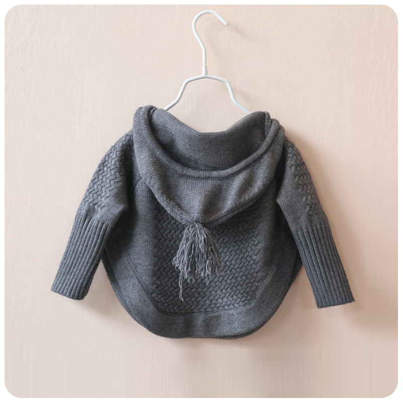 baby Knitted Sweater for girls winter loose bat pullover sweater hem Fit Pullovers toddler Girls Winter clothes with tassel hotfrost v118r