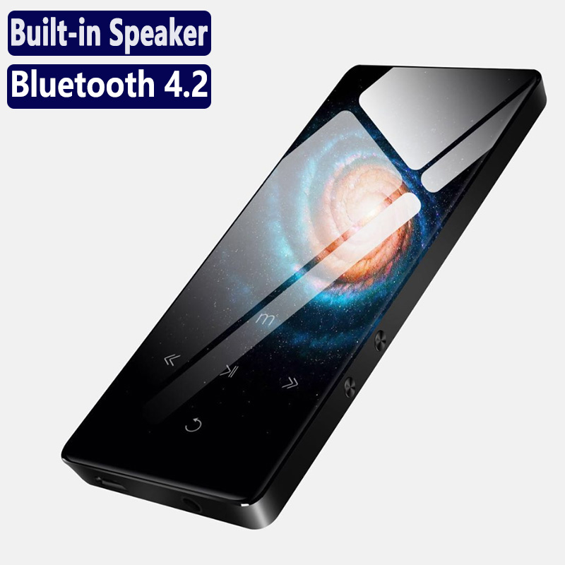 A8 Metal Bluetooth Sport MP3 Player Portable Audio With Built-in Speaker FM Radio APE Flac Music Player