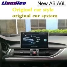 Для Audi A6 A6L C7 4G 2012 ~ 2018 Liandlee автомобильный мультимедийный плеер NAVI аксессуары Радио CarPlay адаптер gps Экран навигации