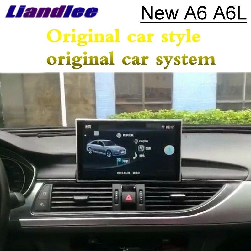 Para Audi A6 A6L C7 4G 2012 ~ 2018 Liandlee coche reproductor Multimedia NAVI accesorios Radio CarPlay adaptador GPS pantalla de navegación