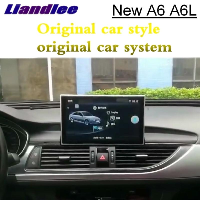 Pour Audi A6 A6L C7 4g 2012 ~ 2018 Liandlee Voiture Lecteur Multimédia NAVI Accessoires Radio CarPlay Adaptateur GPS écran de Navigation