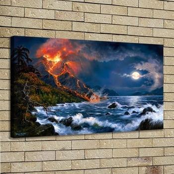 Arte de la pared de HD impresión de la pintura de la decoración del dormitorio sobre la lona