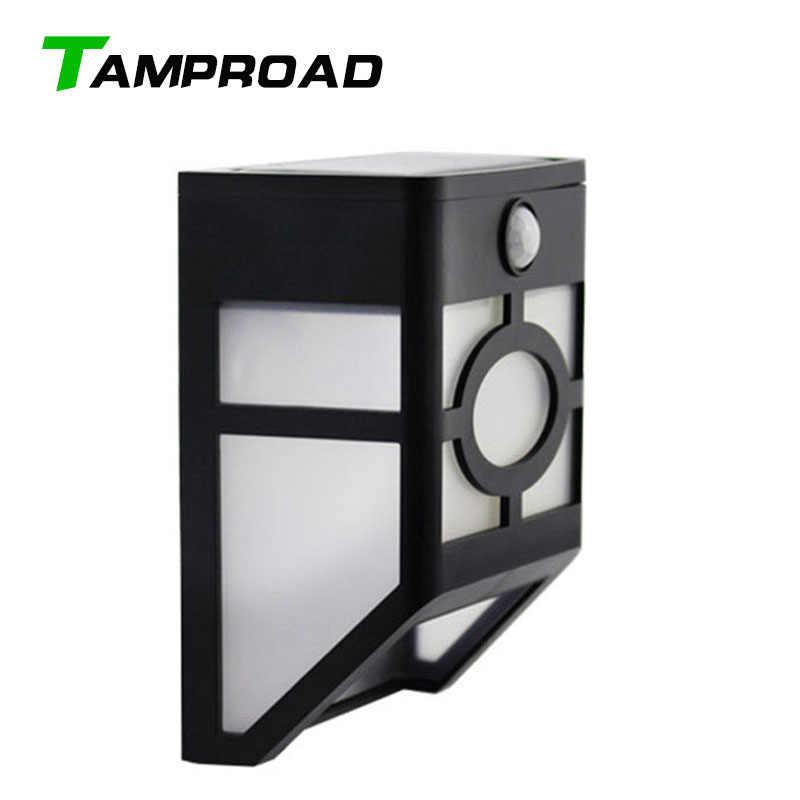 TAMPROAD تعمل بالطاقة الشمسية مستشعر حركة لاسلكي أبيض ضوء درج مسار المشهد أرض الحديقة الجدار فناء مصباح الحديثة تركيبات