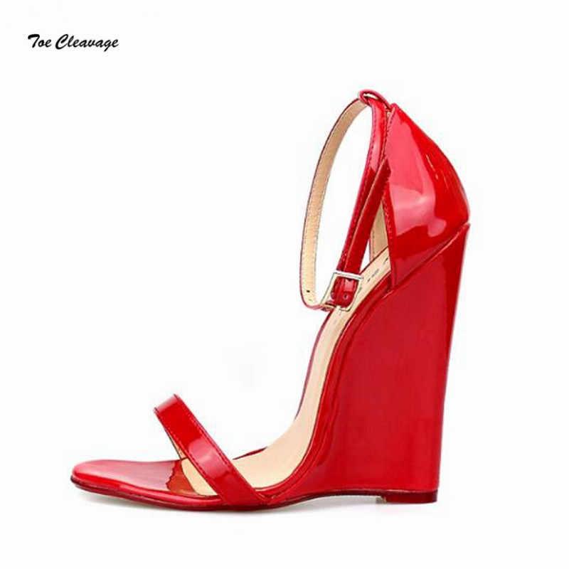 67aa5c1532 Plus:40-45 46 CD open Toe Pumps Summer Crossdresser 14cm Wedges women  Sandals