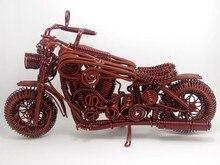 Handmade Bronze Aluminum Wire Big Motorcycle Model Home Decor MotorCycle Model