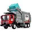 1:24 Diecast Camión Transportador de Material de Aleación de Metal Modelo de Coche Juguetes Para Niños Brinquedos Coches Dinky Regalo de Año Nuevo