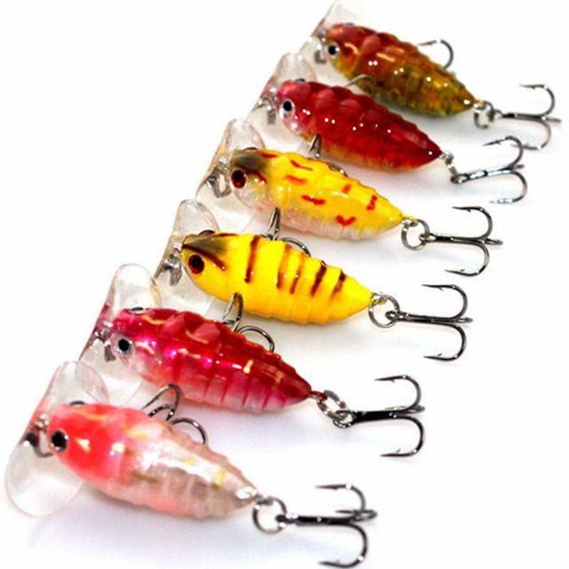 """חם! 6 יחידות גבוהה באיכות חרקים פיתיון דבורה דיג פיתוי קרפיון קרס דיג מים מתוקים בריכת מאגר דיג Wobblers 40 מ""""מ 4.2 גרם"""