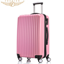 2016 NEW 1 Piece Hardside Travel Luggage Suitcase 20 24 Rolling Spinner 4 Wheels Pink  girls ABS PC Lightweight Fochier XQ20