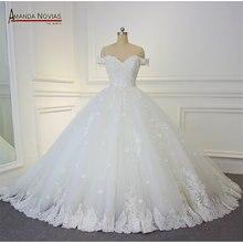 Robe de mariage 2019 שמלות כלה כבוי כתף רצועות כדור שמלת שמלת כלה