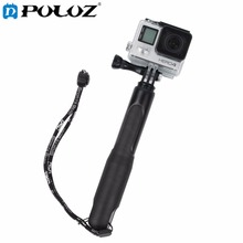Buy online For Go Pro Accessories Extendable Handheld Telescopic Monopod Selfie Stick for GoPro HERO5 HERO4 Session HERO 5 4 3+ SJ4000