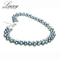 LACEY zoetwaterparels ketting sieraden voor vrouwen, echte natuurlijke parel ketting fijne sieraden vrouw moeder verjaardagscadeautjes