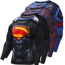 New T-shirt for Men Compression Shirt Quick Dry Superman Batman Iron Man Fitness Clothing Bodybuilding Men Crossfit Tops T Shirt