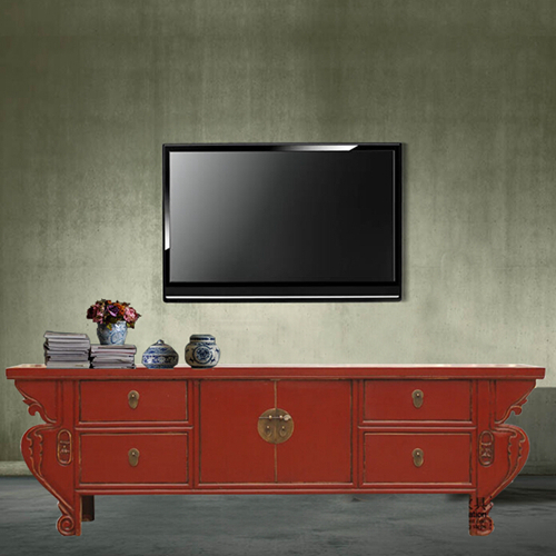 Retro Chinese Antique Wood Furniture Entrance Cabinet Sideboard Lockers Handmade Erfly Old Wooden Tv