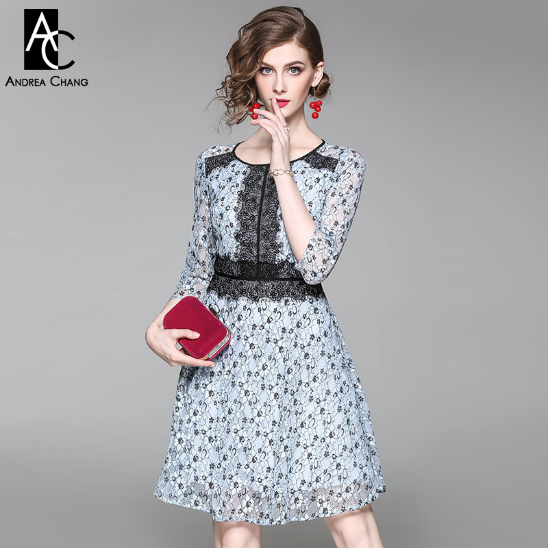 spring autumn woman dress floral pattern sky blue lace black lace patchwork dress high quality fashion vintage cute lace dress spring autumn woman dress faux pearl rhinestone beading sleeve cuff knitted dress fashion vintage elastic black red party dress